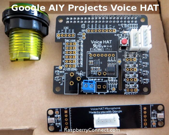 Raspberry Connect - Google AIY Voice HAT Customise Voice Commands