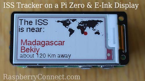 ISS Tracker Raspberry Pi e ink display