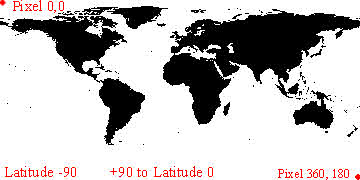 World Map latitude