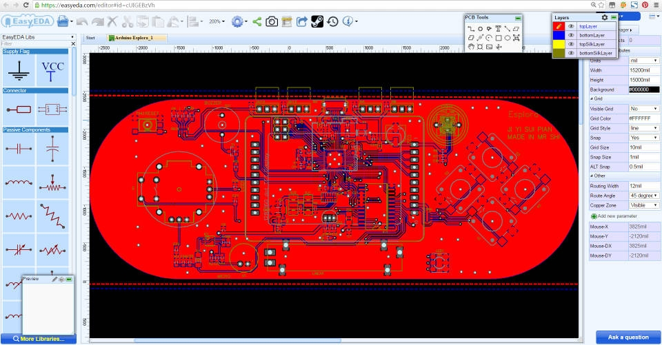 EasyEDA Circuit Designer Web Application